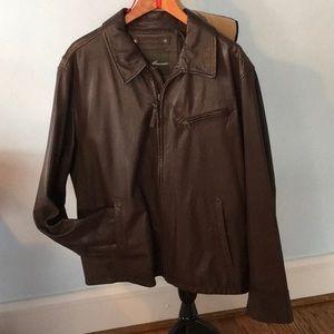 NWOT Eddie Bauer soft brown leather jacket